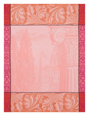 Baroque Kitchen Towel Pink