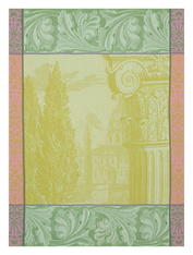Baroque Kitchen Towel Green