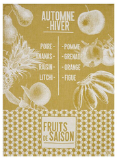 De Saison Fruits Kitchen Towel Mustard