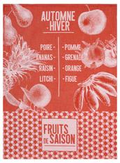 De Saison Fruits Kitchen Towel Pumpkin