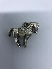 Silver Horse Charm