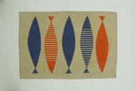 Fish Linen Orange Kitchen Towel