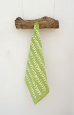 Leaf Linen Green Kitchen Towel