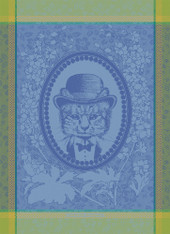 Monsieur Chat Bleu Kitchen Towel