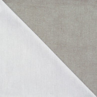 Bicolor Cotton Napkins Blanc / Gris, set of 6