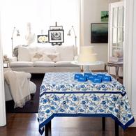 Granada Blue Tablecloth