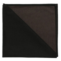 Bicolor Color Napkins  Noir / Cafe,  Set of 6