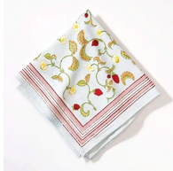 Strawberry Fraise des Bois Napkins, Set of 6