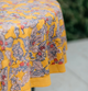 Round tablecloth style print, no border