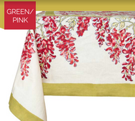 Wisteria Green Pink Tablecloth