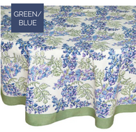Wisteria Blue Green Tablecloth