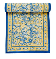 La Mer Yellow Blue Table Runner