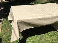 Coated Beige Gold Shimmer Tablecloth, 60 x 98""