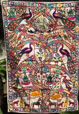"Indian Tree of Life ""Love Birds"" 40 x 60"""