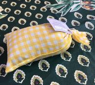 Yellow gingham pattern.