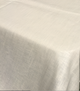 Cream Coated Linen Tablecloth