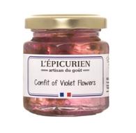 Confit of Violet Flowers