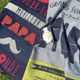 """Also comes in another dishtowel option, """"Meilleur Papa du Monde"""" pictured on left."""