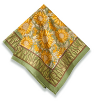 Sunflower Yellow Green Napkins, set of 6