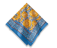 Sunflower Yellow Blue Napkins, set of 6