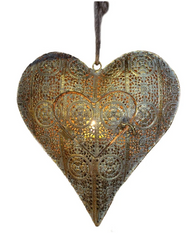 Hanging Candle Holder - Heart