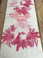 Pink Bird  Table Runner