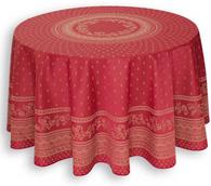 Durance Burgundy Tablecloth