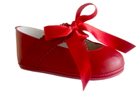 Infant Classic Red Leather Shoes for Girls