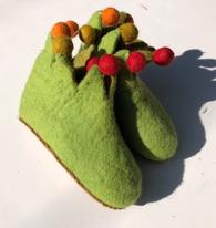 Felt Slippers - Green