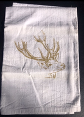Kitchen Towel - Reindeer Gold