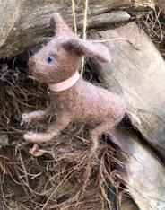 Boiled Wool Ornament - Dog
