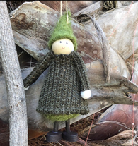 Boiled Wool Ornament - Winter Maiden