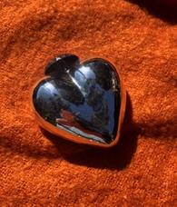 Mercury Glass Heart - Silver