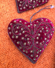 Red / Gold  Heart Ornament