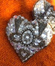 Silver Ornament - Heart
