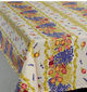 "Rectangular Tablecloth with Linear Print,  78"" and 120"""