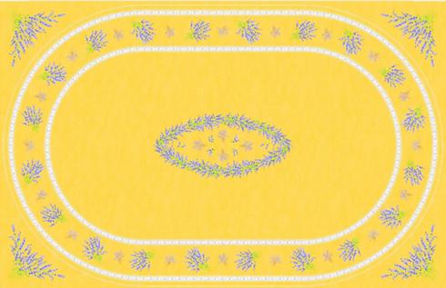 Oval Print Rectangular Tablecloth