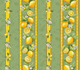 """Detail of 78"""" and 120"""" Rectangular Tablecloth with linear print"""