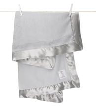 'Little Giraffe' Luxe Blanket- Silver