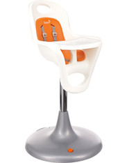 'Boon' Flair High Chair- White and Orange