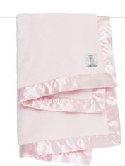 'Little Giraffe' Chenille Blanket- Pink