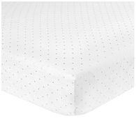 'Just Born' White Crib Sheet