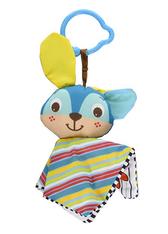 'Tiny Love' Clip on Toy, Crinkly Bunny