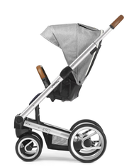 'Mutsy' Igo Pure Stroller in Fog with Silver Chassis