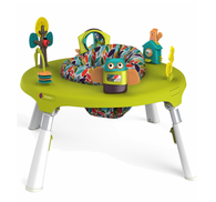 'Oribel' PortaPlay 4-in-1 Foldable Activity Center - Turn, Bounce, Play, Transform - Forest Friends