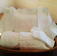 'Sweet William' Custom Pillow & Blanket Monogram Set