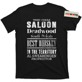 The Gem Saloon Deadwood South Dakota Al Swearengen Movie Tee T Shirt