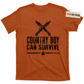 Hank Williams Jr Country Boy Can Survive Bocephus Prepper Rapture Apocalypse T Shirt