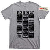 Back in the Day Old School Cassette Tape Yo MTV Raps Mixtape Boombox T Shirt