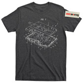 Exploded View Cassette Tape Nerd Geek Mixtape Boombox Music Tee T Shirt